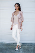 Lovers  Friends jacket - asos top - franco sarto sandals