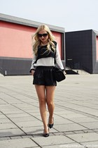 black Zara bag - black shorts