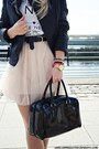 Black-mango-jacket-light-pink-primark-skirt-white-reserved-t-shirt
