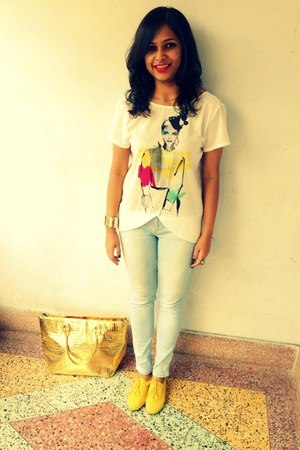 Zara top - Simpark Mall Calcutta shoes - denim Zara jeans