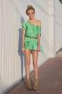 Chartreuse-zara-dress-aquamarine-deena-ozzy-bag-bronze-leopard-print-forev