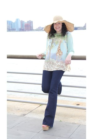 giraffe blouse vintage blouse
