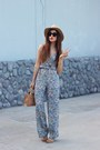 Mini-bebe-bag-bebe-sunglasses-floral-jumpsuit-topshop-jumper