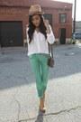 Camel-camel-booties-h-m-boots-green-denim-zara-jeans