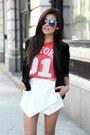 White-skort-leather-luna-b-skirt-black-pointed-toe-jeffrey-campbell-heels