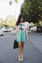 aquamarine lace skirt Love skirt - black leather asos bag