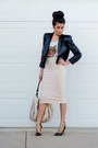 Light-pink-love-skirt-black-leather-forever21-jacket