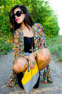 Yellow-clutch-madison-elizabeth-co-bag-black-jeffrey-campbell-boots
