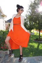 aviator lindex sunglasses - carrot orange GINA TRICOT dress