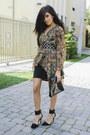 Floralchiffon-vintage-find-cardigan-black-clutch-asos-bag