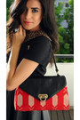 Black-leather-skirt-forever21-skirt-red-f-w-style-bag-red-zara-flats