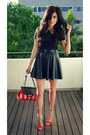 Red-f-w-style-bag-red-zara-flats-black-leather-skirt-forever21-skirt