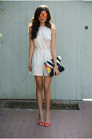 Molly LA romper - Nila Anthony bag - H&M sunglasses - Zara heels