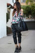 black Zara bag - Urban Outfitters pants - Lovers and Friends sweatshirt