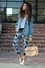 Denim-oversized-topshop-jacket-navy-forever-21-pants-white-shoedazzle-heels