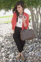 cropped blazer H&M blazer - harem pants Karmaloop pants