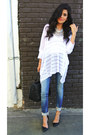 Navy-skinny-jeans-zara-jeans-white-bamboo-sunday-rocks-shirt
