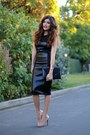 Black-vivian-chan-dress-black-clutch-bcbg-max-azria-bag