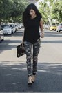 Black-tank-top-lovers-and-friends-blouse-army-green-forever21-pants