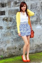 shoes - skirt - cardigan