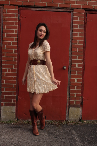Ivory country style dress