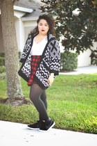 nike sneakers - Forever 21 sweater - cotton on skirt