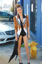 vintage blazer - vintage shorts - YSL heels