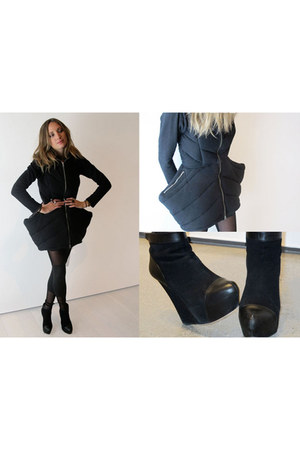 black anzevino and florence dress - black weekdays tights - black rock and repub