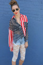 Ivory-h-m-tights-light-blue-levis-shorts-red-unif-blouse