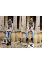 vintage scarf - clif shoes - Cheap Monday jeans - River Island shirt