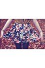 Floral-oasapcom-skirt-dark-khaki-parka-henry-holland-coat