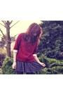 Ruby-red-collar-oasap-jumper-silver-sparkle-asos-skirt