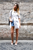 Max Mara shirt - Zara shoes - Marella bag - Trussardi Jeans Vintage shorts