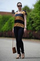 navy skinny Esprit jeans - tawny camera Zalando collection bag