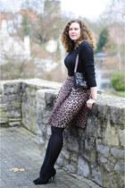 black leather Rebecca Minkoff bag - black turtleneck Esprit jumper