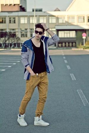 Bershka jacket - Topman pants - Bershka top - Zara sneakers