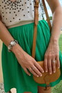 Aldo-bag-forever-new-top-emerald-green-topshop-skirt