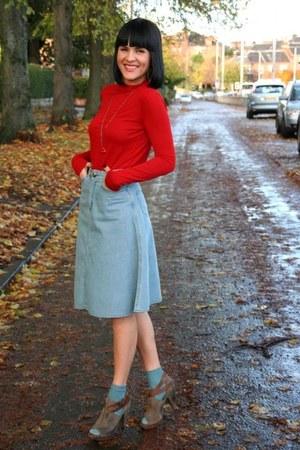 sky blue Topshop skirt