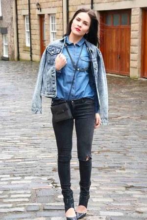 blue denim asos jacket
