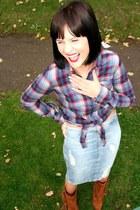 tartan cowboy bank blouse