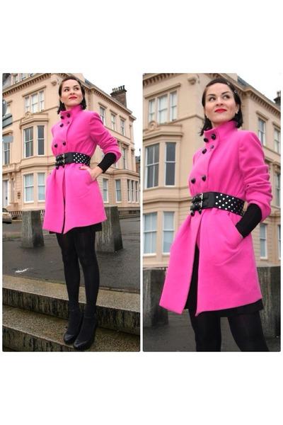 hot pink vintage coat