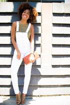 Zara bag - TJ Maxx romper - Nine West heels - balenciaga glasses