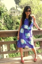 vintage dress - seychelles shoes - Gucci sunglasses - f21 accessories