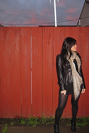 Laundry by Shelli Segal jacket - flounce dress - Urban Outfitters tights - Steve