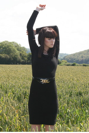 black FanciSchmancy vintage dress - black FanciSchmancy vintage belt