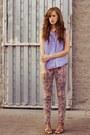 Light-purple-bdg-pants-violet-goodwill-shirt