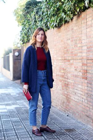 Zara jeans - Mango jacket - Massimo Dutti bag - Bimba & Lola flats - Zara top
