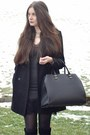 Black-zara-boots-charcoal-gray-zara-dress-black-zara-coat-black-h-m-bag