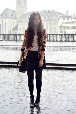 black H&M boots - black Missguided jacket - black Aldo bag - black H&M skirt