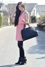 Black-new-look-boots-bubble-gum-h-m-dress-black-h-m-bag
